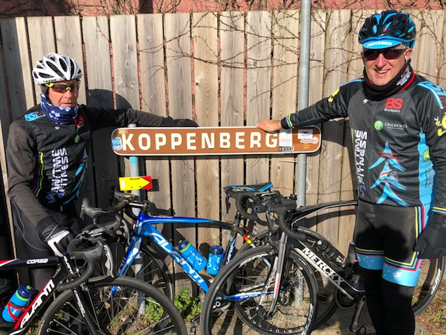 BiciSport in Flanders @ 20 Mar - Mike Lawson & Mike O'Reilly at the Koppenberg.