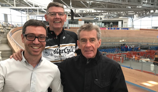 B  iciSport in Flanders 18 @ 29 Mar - the Paris Roubaix Classic may finish on the 'old' Velodrome but the new indoor Stablinski Roubaix Velodrome is state of the art. The Roubaix Velodrome Director Mathieu Stievenard (pictured left) gave the BiciSport group a guided tour through the facility.
