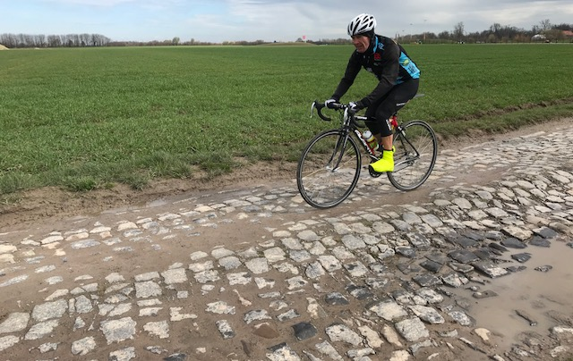 BiciSport in Flanders 18 @ 3 Apr - Mike Lawson on the Carrefour De L'Arbre cobbles