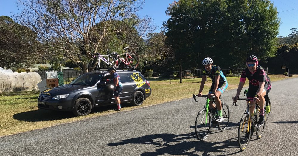 Tour de Bello 2017 - Lachlan Haughey & Stewart Campbell (BiciSport) enjoying the traffic free roads around the Bonville Golf Course near Coffs Harbour.  The 2018 dates are now posted.