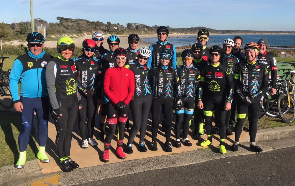 Post Nowra TTT team ride over 50k to Currawong Beach @ 22 July - Many thanks to Darren Crouchley & Alex Simmons who supplied ride support with lead & following cars