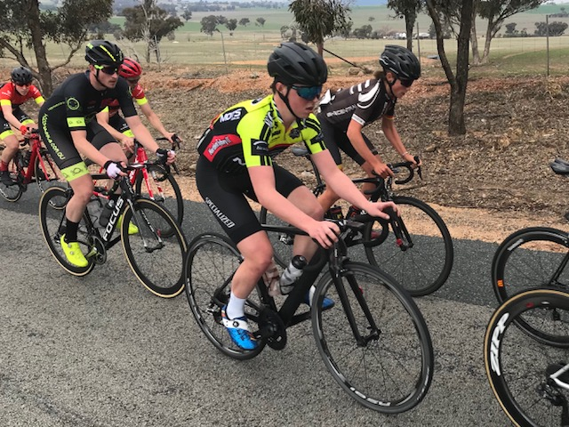 Cootamundra @ 25 August - Conor after 25k in the Chopping Block group with 75k to go.