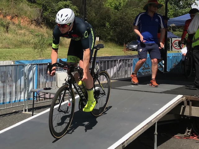 Tour of Bright 18 @ 30 Nov - Conor Tarlington off the ITT ramp at Porepunkah
