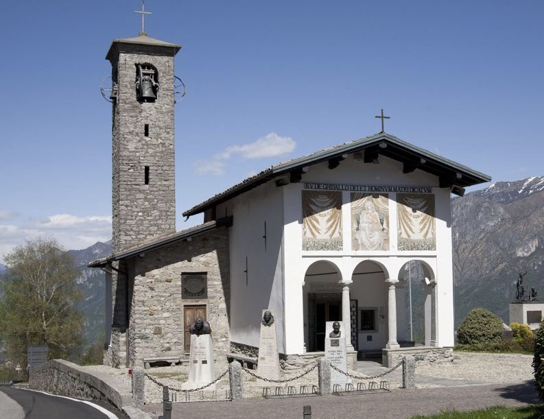 Madonna de Ghissalo Church near Bellagio on Lake Como