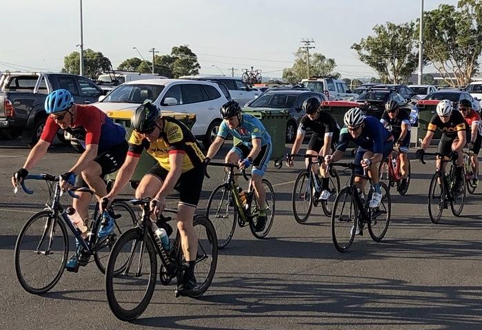 David Cooper (BiciSport Master) @ the Marconi Tuesday night criterium (in B grade) @ 22 Jan