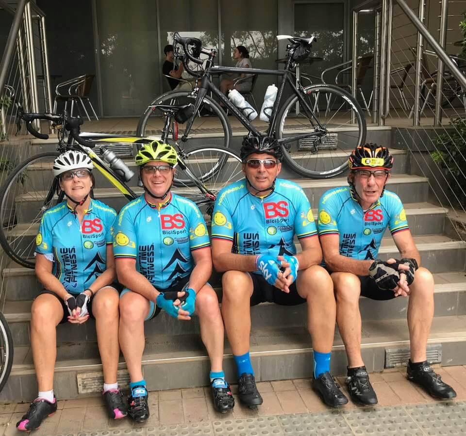 BiciSport 130k ride around Griffith @ 27 Jan - Melissa Budd, Peter Budd, Frank Signor & Michael Taylor