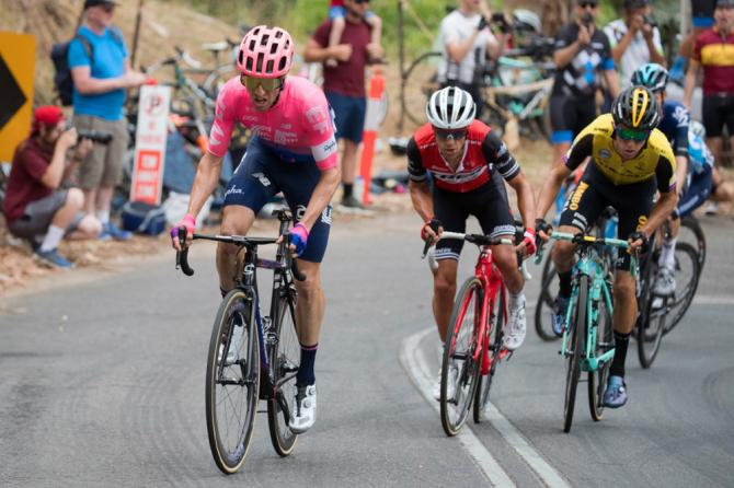 Herald Sun Tour 2019 - Michael Woods (left) & Ritchie Porte (centre) animated the HST 19 but it was all blue Sky after the Arthurs Seat ambush.