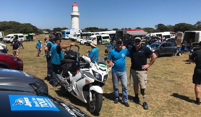 HST 19 @ Saturday @ Cape Schank Lighthouse start - Mike O'Reilly & Alex Simmons (BiciSport)