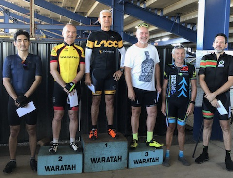 Waratah Masters @ ECR @ 17 Feb - Ian Grainger (BiciSport Master) picks up yet another 5th place in C grade.