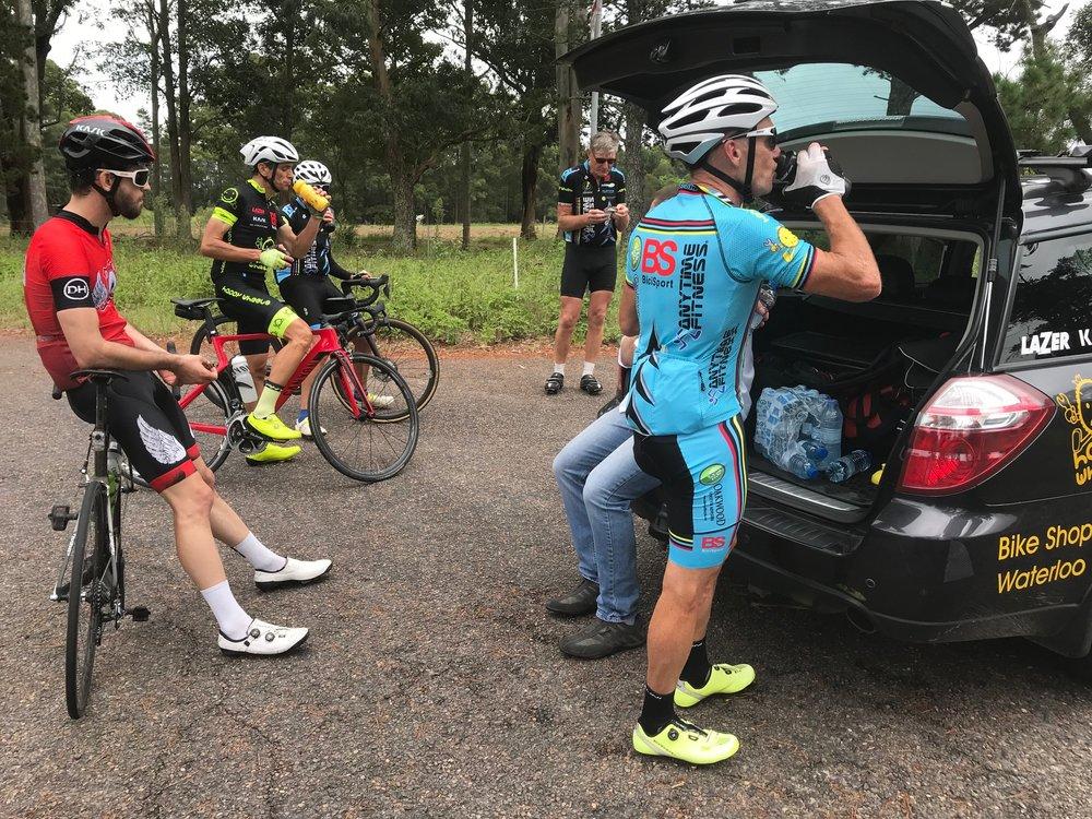 BiciSport Wisemans Loop @ 24 Feb - after the Alpe del la Mangrove Mountain climb and just 25k to the Calga finish