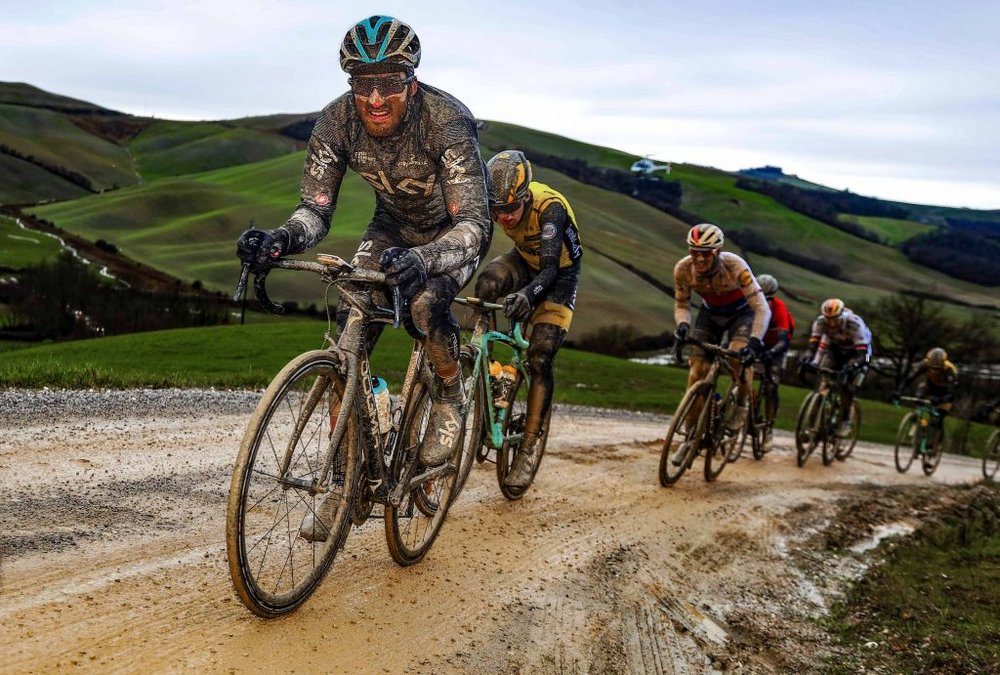 Racing on Tuscan gravel roads around Siena can come with some challenges