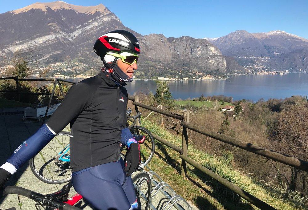 IL Perlo Hotel @ 20 Mar -  Alberto Elli before the start of the first BiciSport team ride around Lake Como