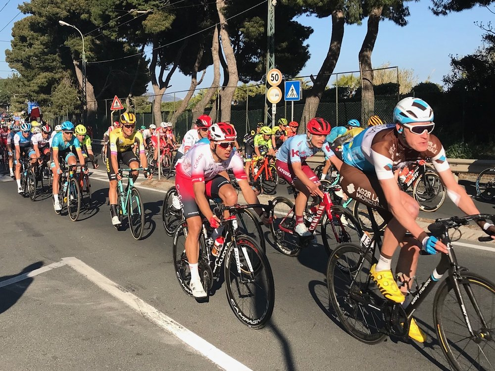 Milan San Remo 2019 @ 23 March  - the professional Classic storms towards the Poggio with just 10k to the finish in San Remo (picture MOR)