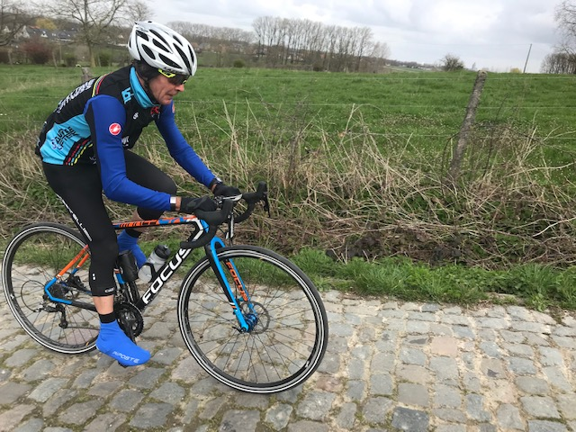 Koppenberg @ 26 Mar -  Mike Lawson approaches the Black Beast