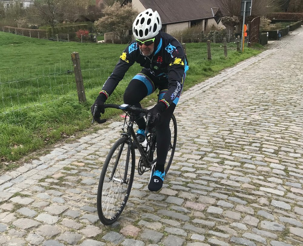 Koppenberg @ 26 Mar -  Marty Wright approaches the Black Beast