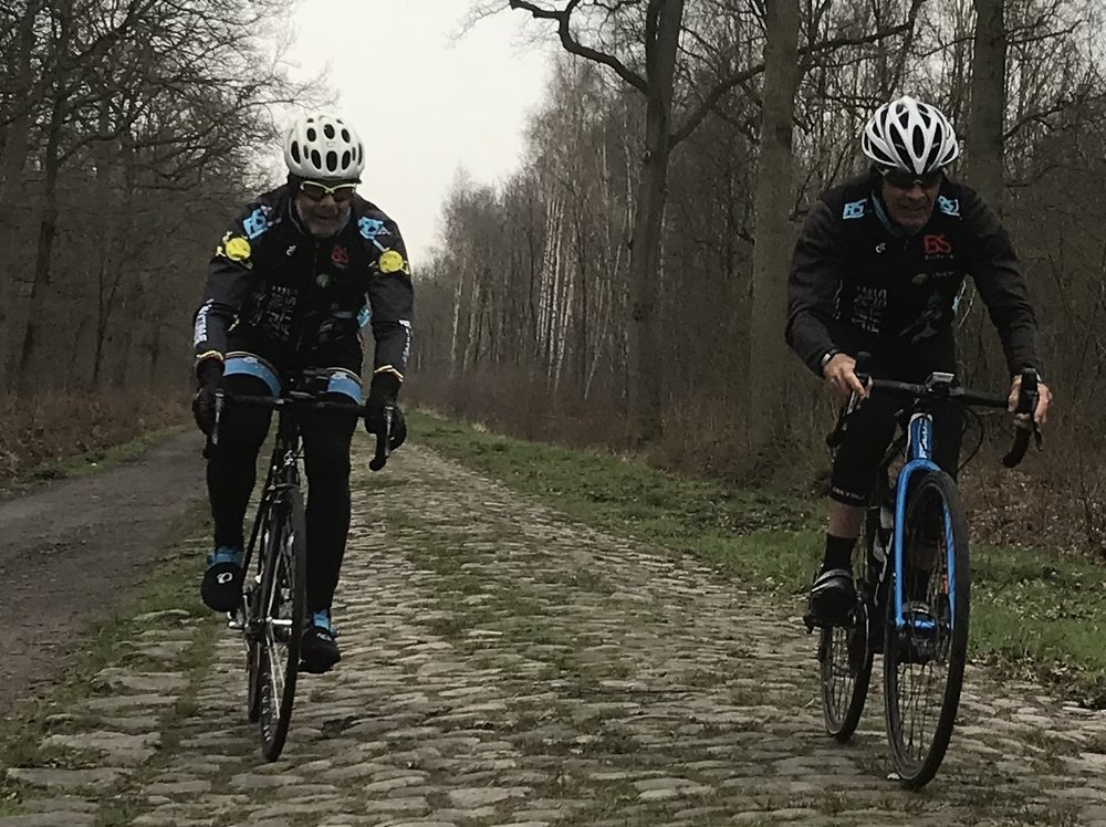 Roubaix Recon Ride @ 28 Mar  - Arenberg Forest cobbles (Sector 19) with Martin Wright & Mike Lawson