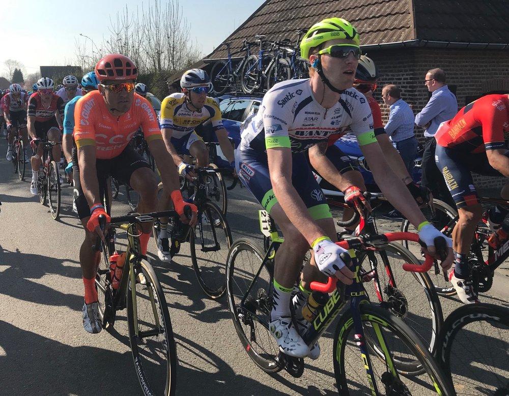E3 Grand Prix @ 29 Mar @ Kortekeer Climb Feed Zone -  Greg Van Avermatt 2016 Olympic Road Race Champion (Team CCC). Photo MOR.