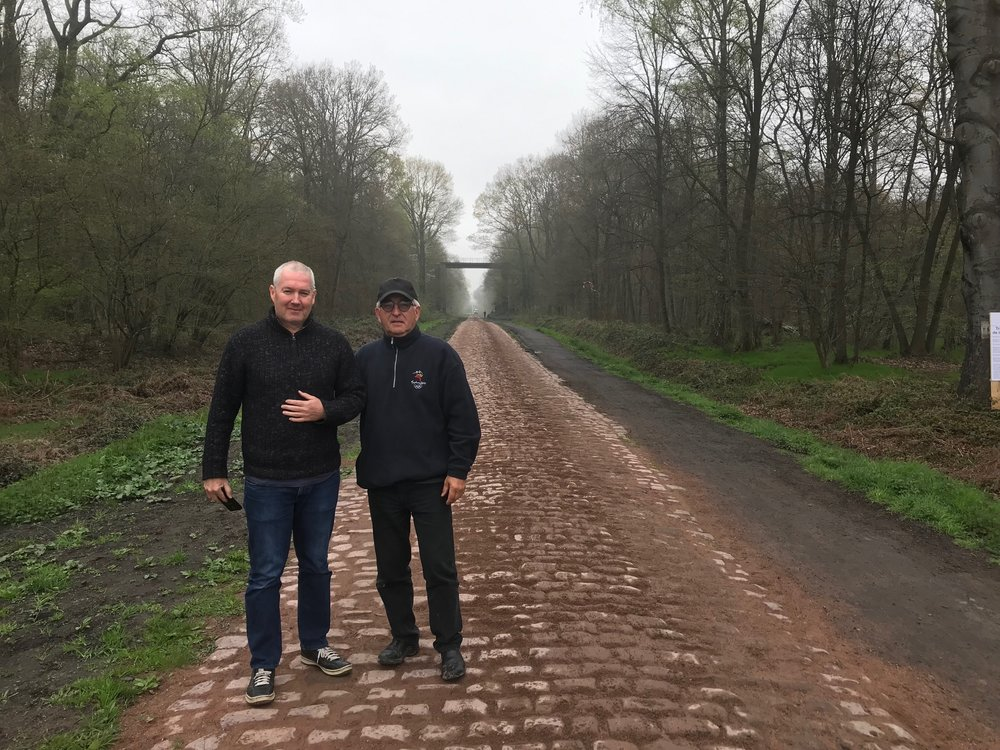 Troisvilles Wallers @ 8 April -  Wallers Arenberg cobbles with Mike O'Brien & Mike O'Reilly