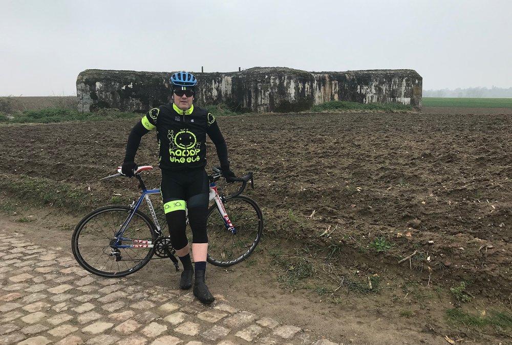 Troisvilles Wallers @ 8 April -  Viesly cobbles (Sector 26) includes a World War 1 German concrete bunker
