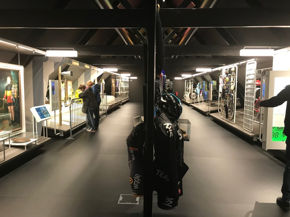 Koers Cycling Museum @ Roeselare @ 9 April -  Jersey display room on Level 1 of the museum. Photo MOR.