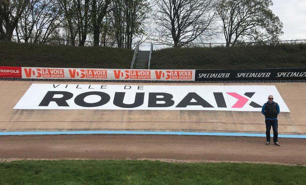 Roubaix Cyclosportive Registration @ Roubaix Velodrome @ 12 April -  Mike O'Brien at the Roubaix Velodrome