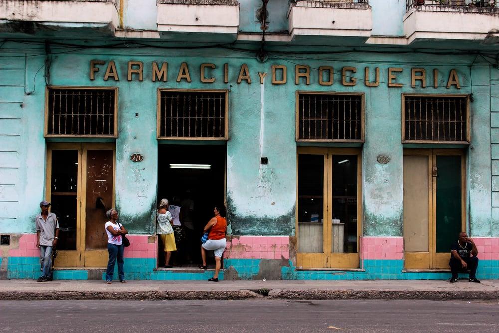 A pharmacy in Havana, Cuba.