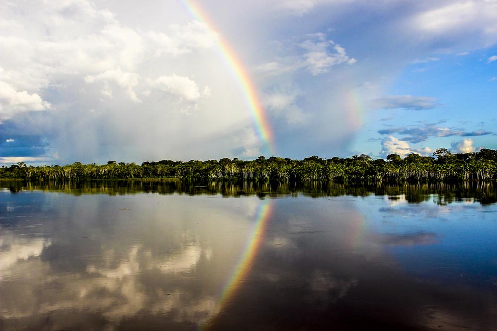 On the Amazon River, Peru.