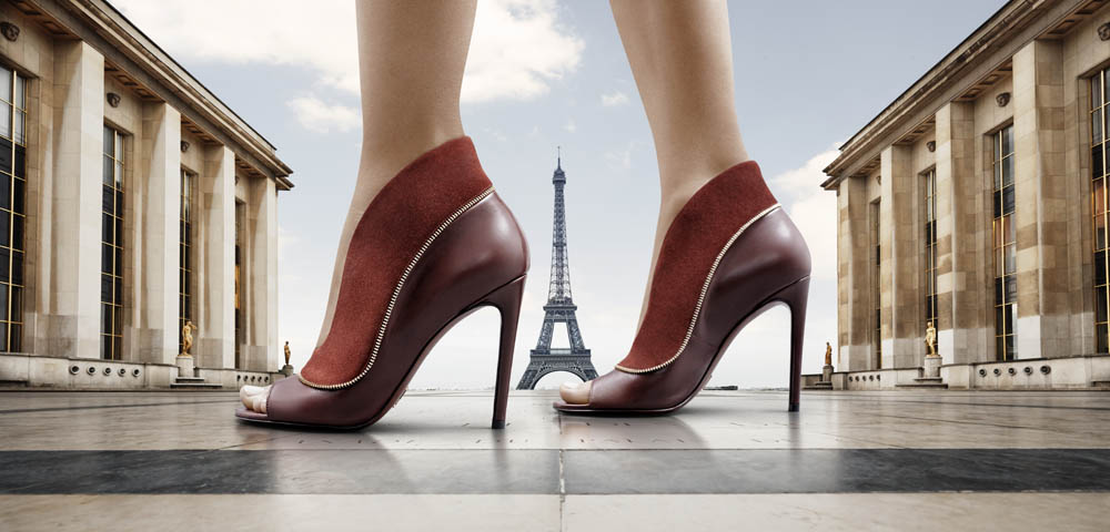 LOUIS VUITTON: Shoes over Paris