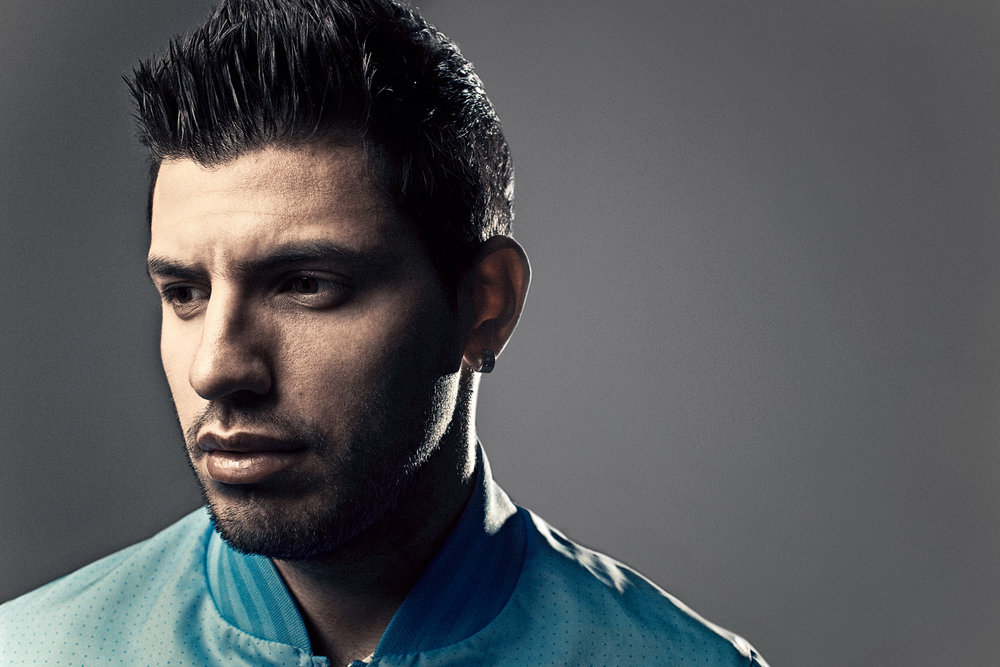 Sergio Aguero photographed by John Wright