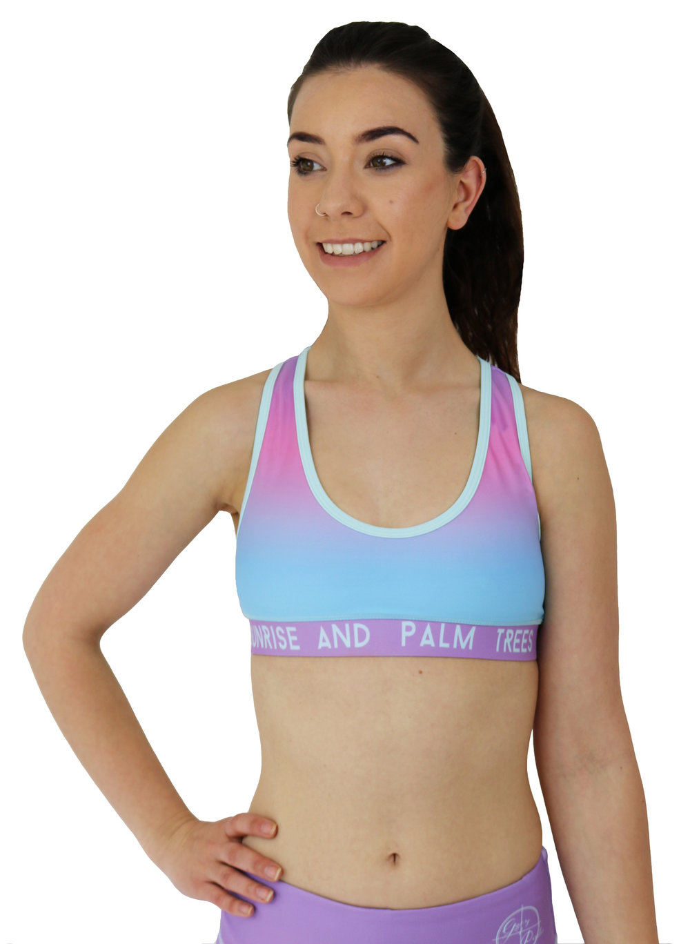 GP SUNRISE AND PALM TREES SPORTS BRA FRONT.jpg
