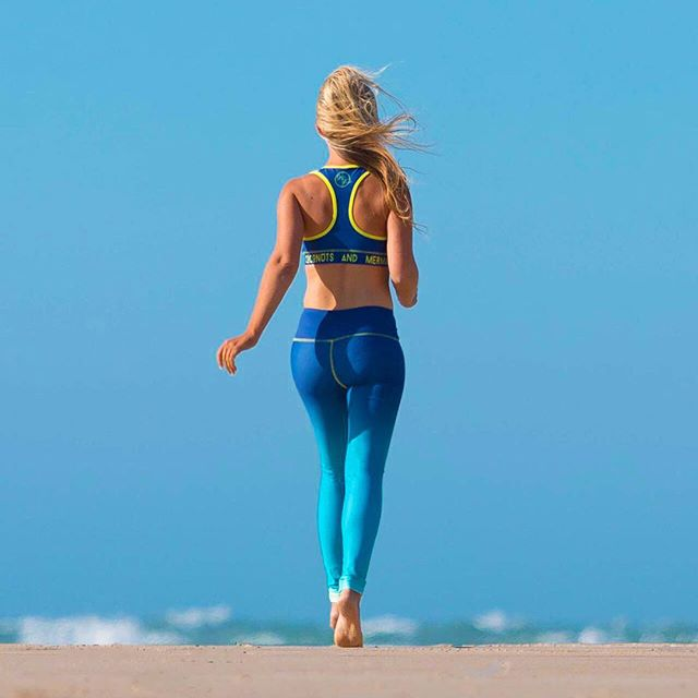 Bare feet + Salty hair  Our ambassador @gypsea_wandering wearing Ocean Blue sports bra & leggings available at www.gypsypirates.com               #activewear #ecofriendly #fitnessfashion #beachbody #beachlife #run #runnergirl #summer #fitspo #fitness #fitnessmotivation #fitnessgirl #yogi #traveller #travel #tiu #gypsea #gypsypirates