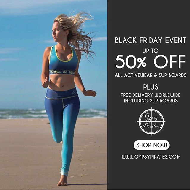 🔥 Black Friday exclusive sale event online 🔥 all weekend shop now for up to 50% off all items including eco friendly activewear featuring advance technology • sweat resistant • cooling • quick dry • anti bacterial • SPF 50+  Perfect for land to sea Fitness           #blackfriday #sale #yoga #yogi #yogapants #yogaeverydamnday #yogainspiration #befit #activewear #fitfam #fitnessmotivation #tiu #bbg #beachbody #christmaspresent #fitness #instagramfitness #fitgirlsguide #gypsypirates