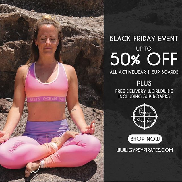 🖤 BLACK FRIDAY EVENT 🖤 Sale ends Monday 23:59 GMT Shop eco friendly activewear featuring advance technology •cooling •quick drying •anti bacterial •SPF 50+  Perfect for land or sea fitness  www.gypsypirates.com       #runsupyoga #surfersagainstsewage #cybermonday #blackfriday #sale #activewear #activelife #yoga #yogi #yogapants #instayoga #yogaeverydamnday #yogainspiration #yogapose #yogafit #yogadaily #fit #fitness #fitnessmotivation #fitnesswear #instagramfitness #fitspo #fitfam #supyoga #beachbody #gypsypirates