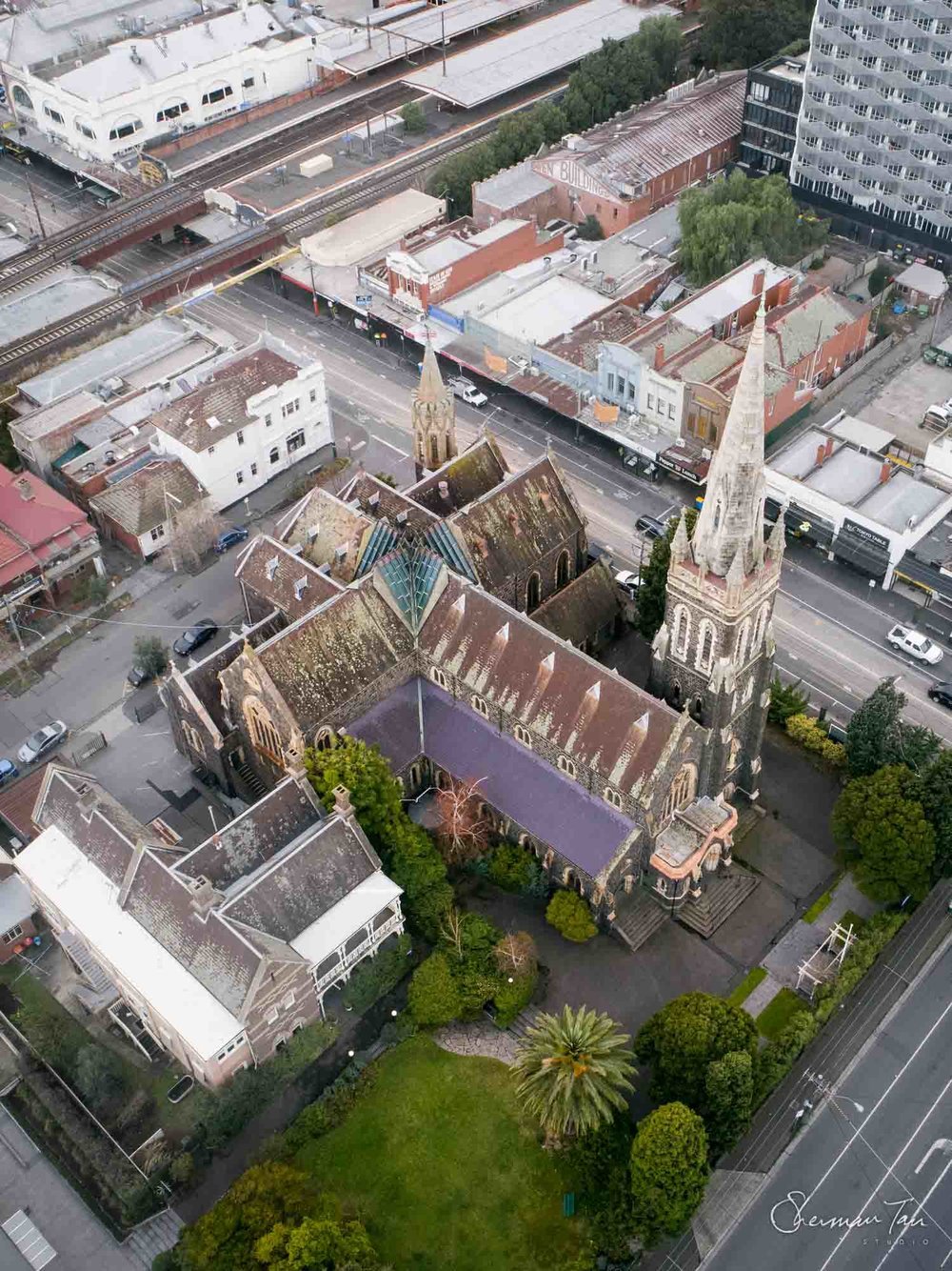©Sherman Tan Studio_Best Melbourne Wedding Church Venue_ICC Hawthown Aerial_116-HDR.jpg