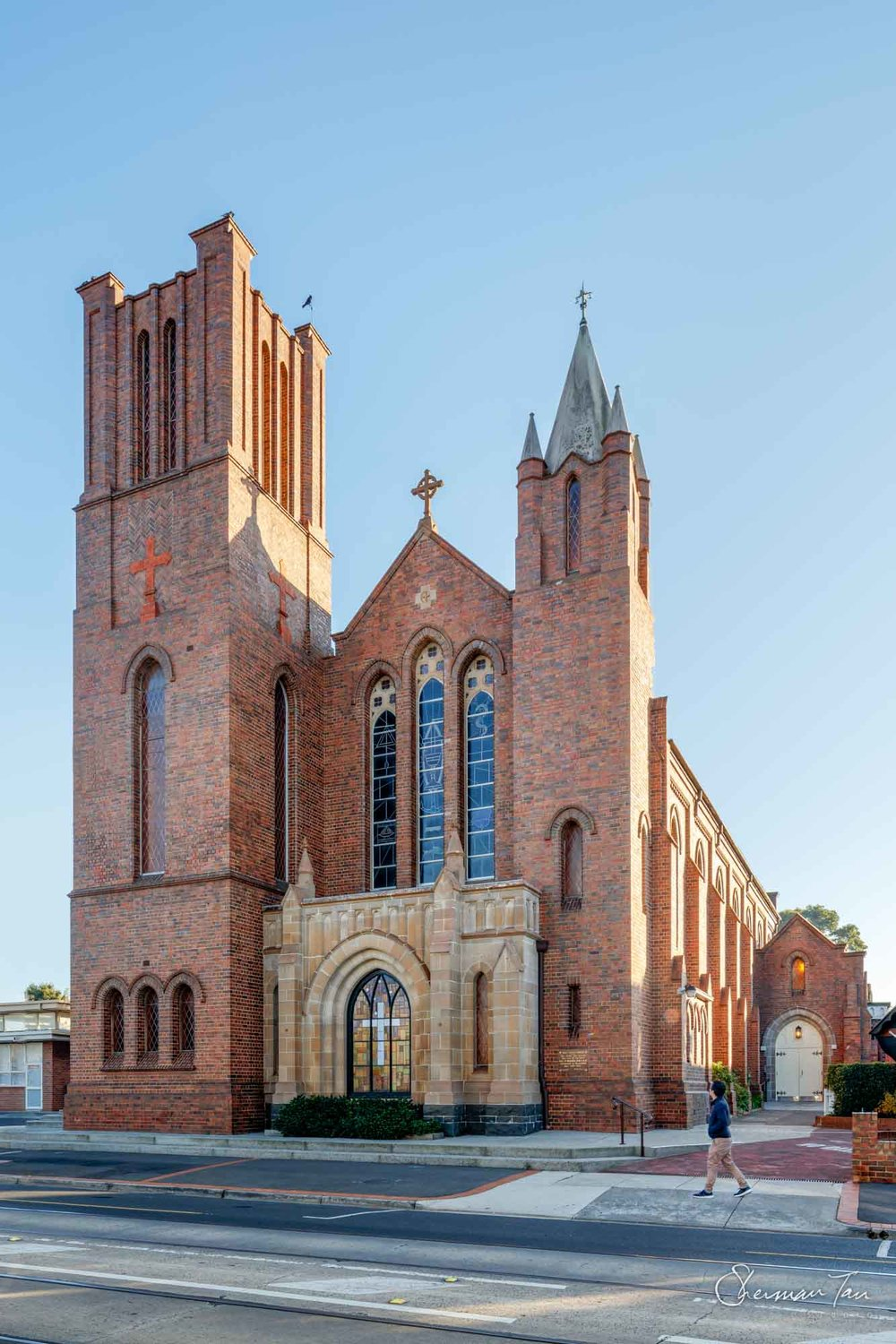 Exterior of Holy Cross Church in Caulfield_Melbourne Wedding Venue