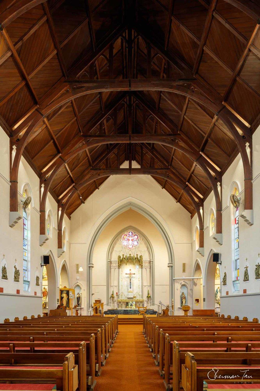 Interior of Holy Cross Church in Caulfield_Melbourne Wedding Venue