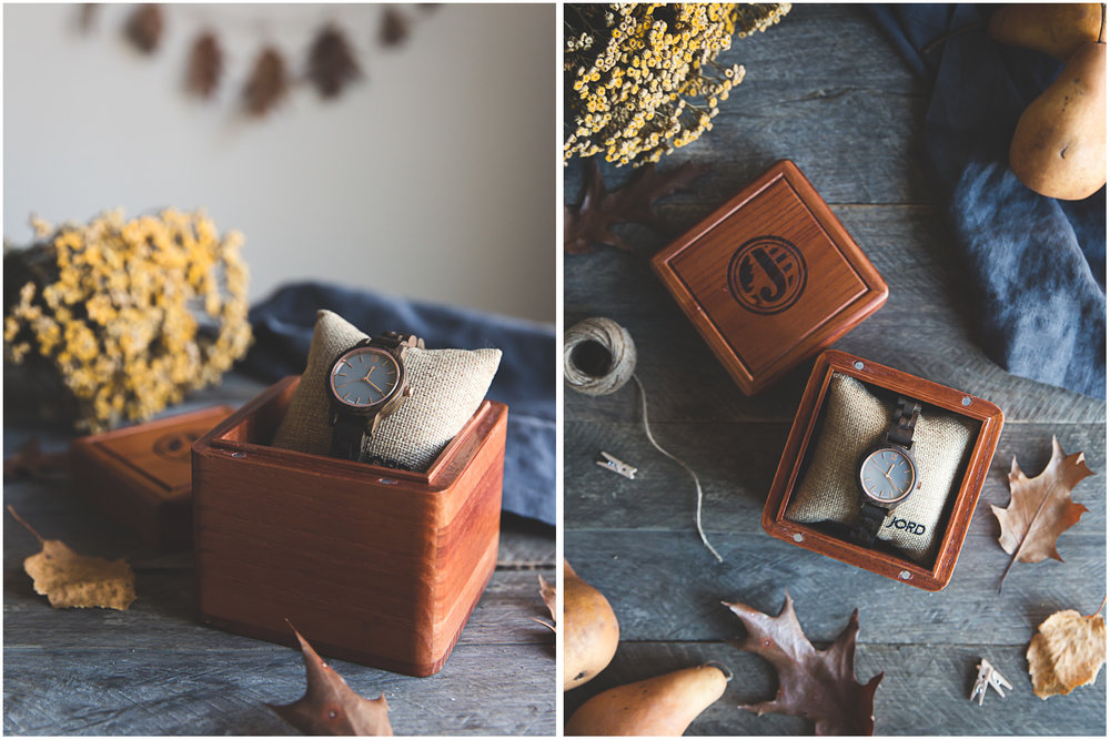 JORD Frankie wooden watch in its packaging