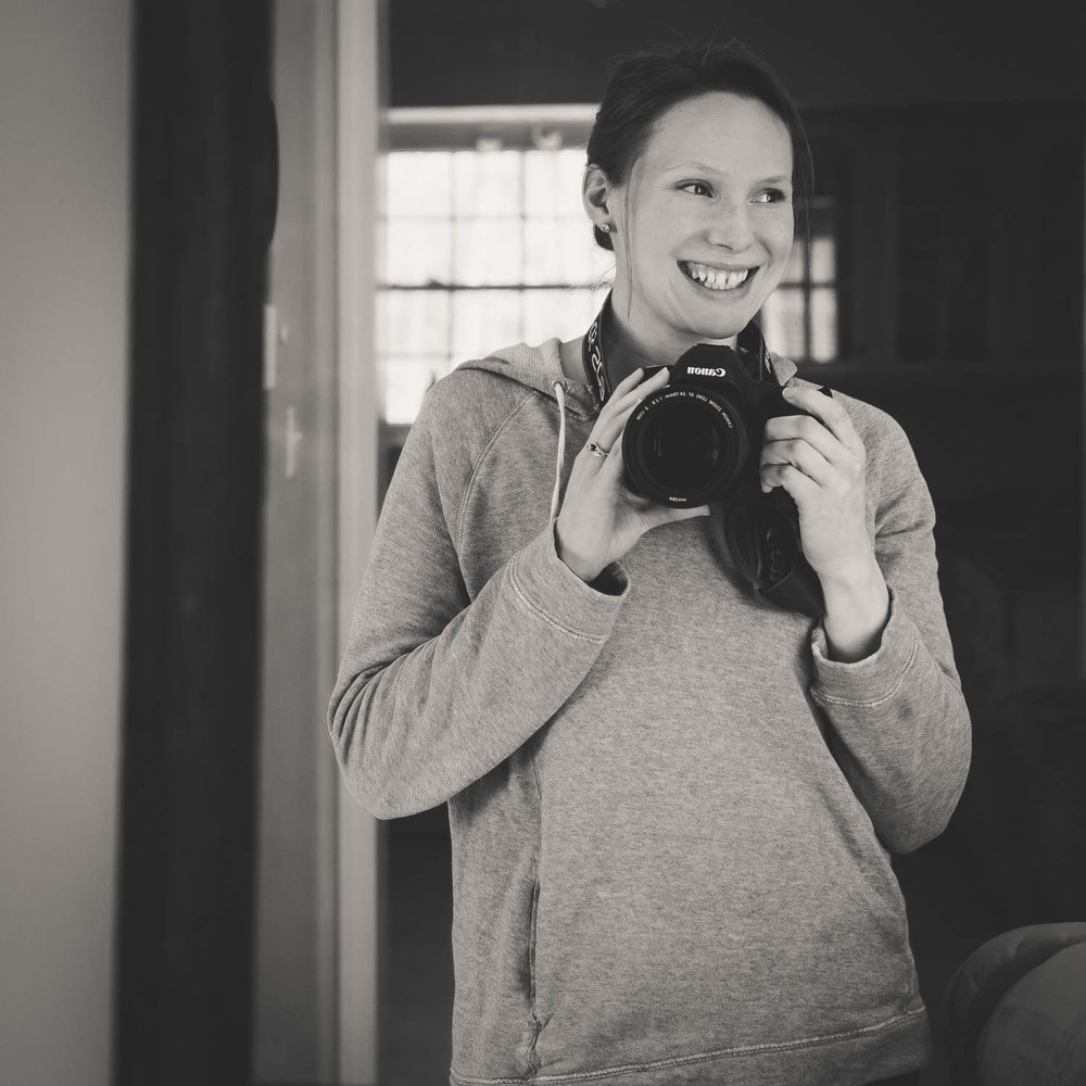 That's me, with my beloved camera - my Canon 5D Mark III - and my favorite old sweatshirt.