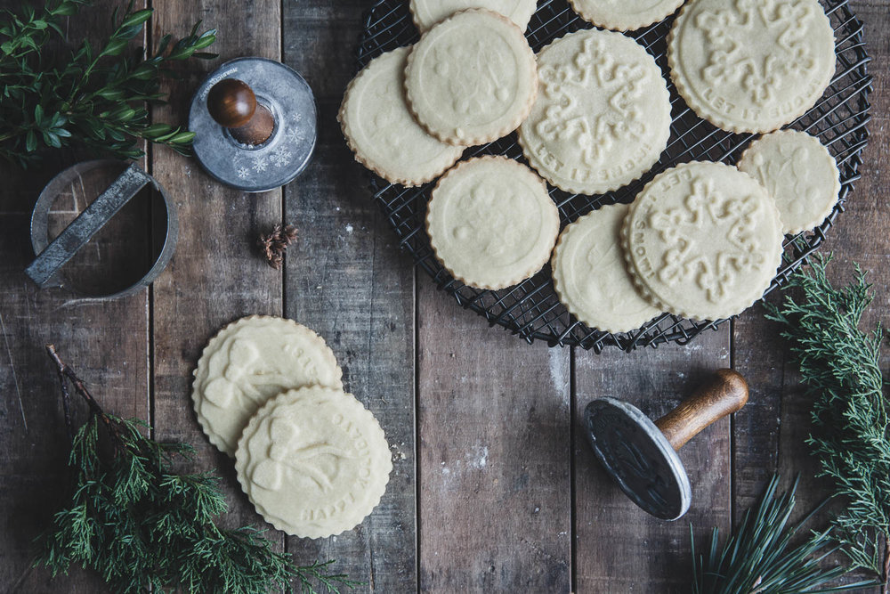 Stamped Shortbread Cookies for Christmas