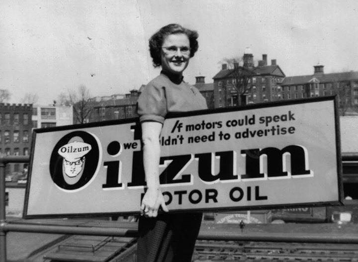 SHOP GAS & OIL ADVERTISING