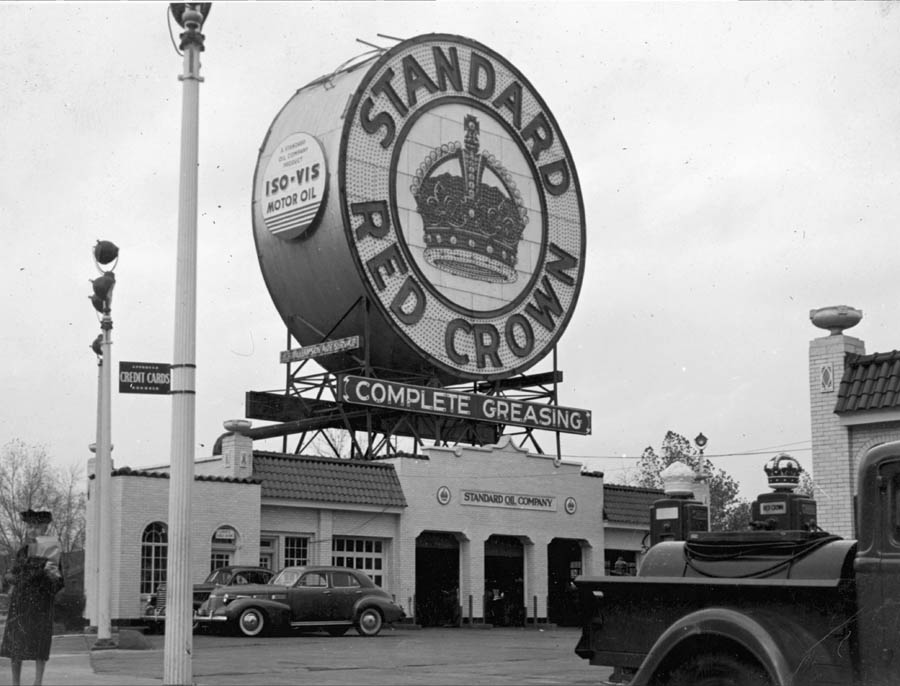 Red_Crown_Service_Station_Skinker_and_Clayton_Roads_[Charlie_Mudd_Standard_Service_The_Station_With_the_Big_Sign_981_South_Skinker_Boulevard.jpg