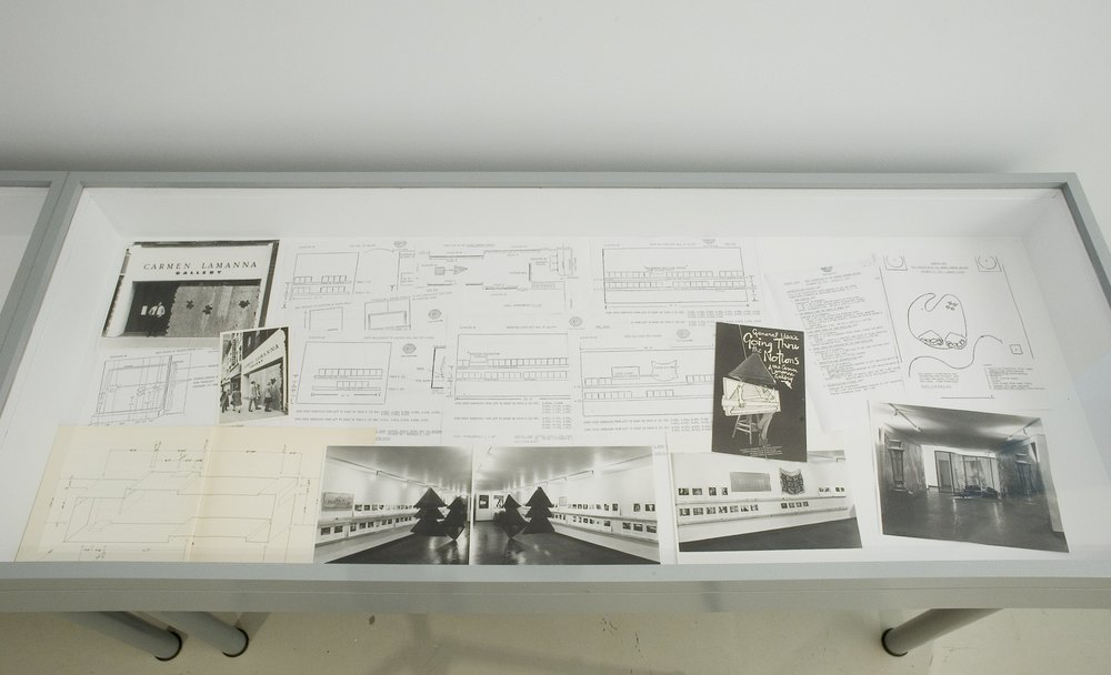 Archival documents of General Idea exhibitions at Carmen Lamanna Gallery, courtesy Philip Monk, photo: Cheryl O'Brien