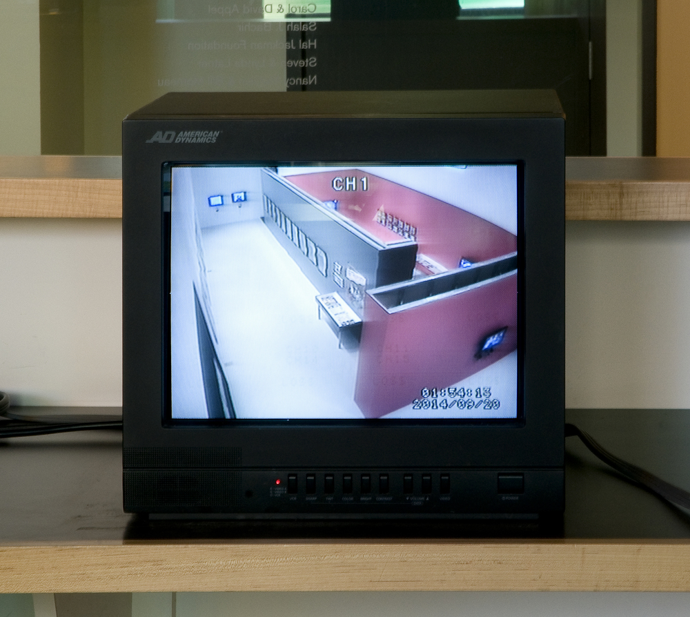 Security camera image of beginning of installation.
