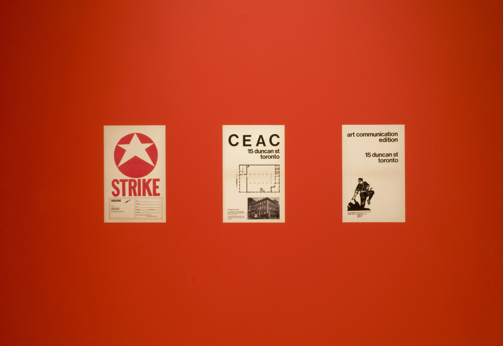 Back covers of  Strike  and  Art Communication Edition  (reproduced as vinyl)
