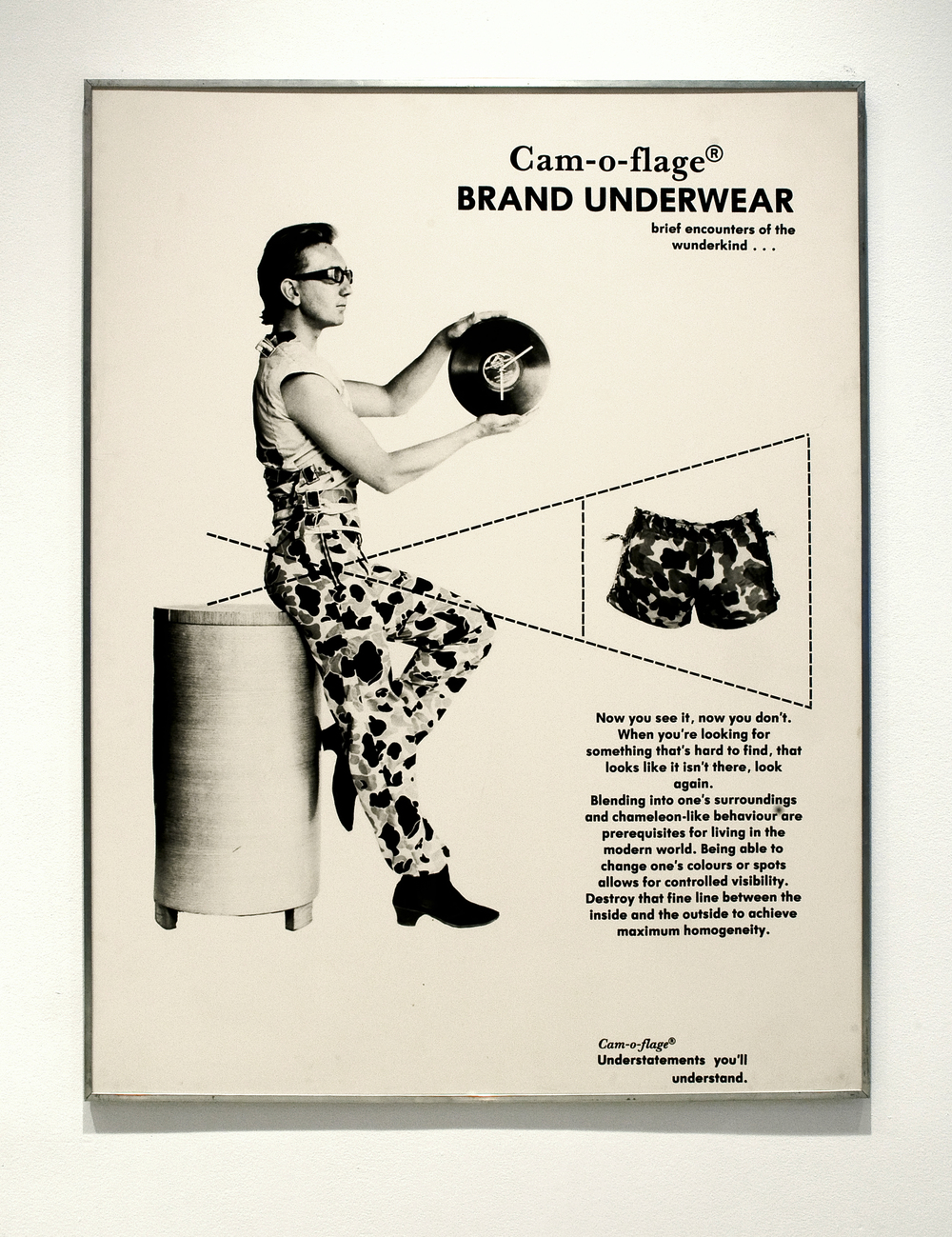 David Buchan,   Modern Fashions Suite:     Cam-o-flage Brand Underwear  , 1977.   Collection University of Lethbridge Art Gallery.