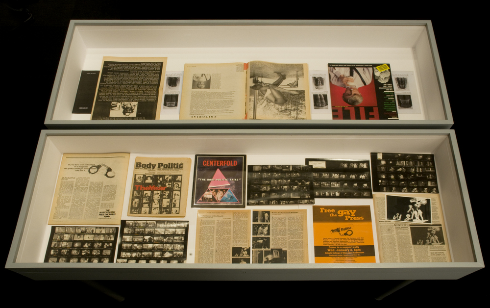 T he Body Politic  archival material. Courtesy of Canadian Lesbian and Gay Archives (contact sheets by Robin Collyer) and Philip Monk.