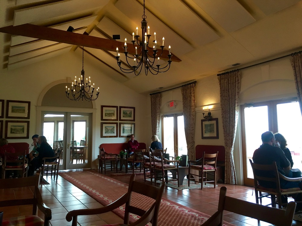 Library 1821: You will be hard pressed to find a more elegant, yet cozy, tasting room.
