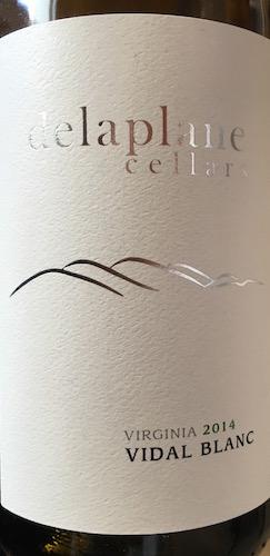 Delaplane Cellars Vidal Blanc 2014