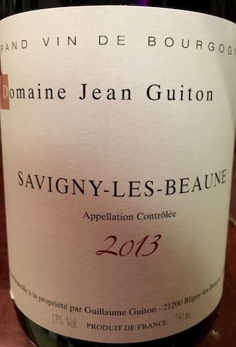 Domaine Jean Guiton Savigny-les-Beaune 2013
