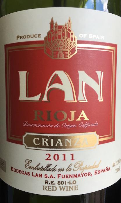 Bodegas LAN Rioja Crianza 2011